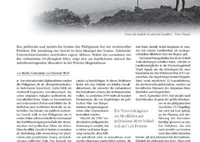 Gewalt-Teilung. Politische Gewalt durch Privatarmeen ist auf den Philippinen weit verbreitet