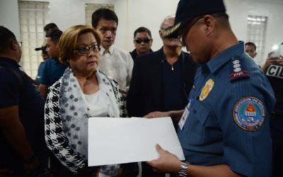 Senator De Lima declared innocent in one of three trials